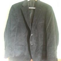Black Corduroy Land's End Jacket Blazer Men's Size 44 Short Photo