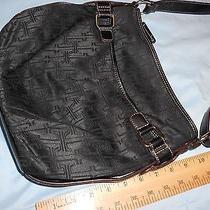 Black Cotton Material Tignanello Handbag Photo