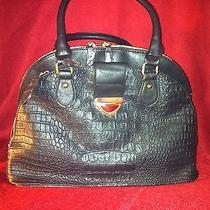 Black Croc Design Handbag Photo