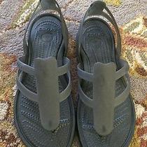 Black Croc Flats Photo