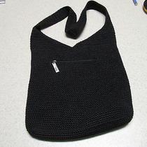 Black Crochet Handbag by the Sak  Photo