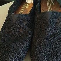 Black Crochet Toms Photo