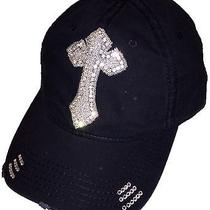 Black Cross Hat Scandalicious Scandalous Designs Baseball Cap Swarovski Crystal Photo