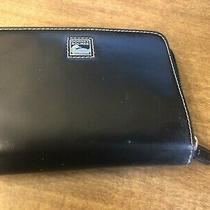 Black Dooney &bourke Vintage Zipper Wallet W Cc Slots and Silver Logo Photo
