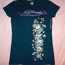 Black Ed Hardy Women's Tshirt Size Medium Free Shipping Photo