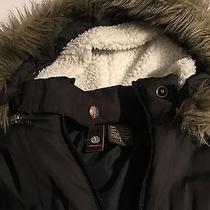 Black Element Winter/fall Zip Up Coat W/fur-Lined Hood Girls Sz S Junior Photo