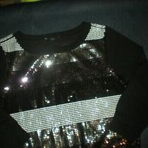 Black...express...glitzy Sparkly Club Wear sweater...size..s..1.99 Photo