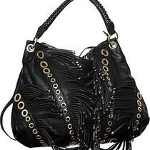 Black Extra-Large/big Crazy Fringe Crossbody Hobo designerl&s Photo