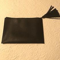 Black Faux Leather Clutch Purse  Photo
