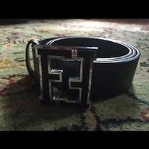 Black Fendi College Belt Size 48 Photo
