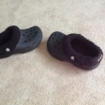 Black Fleece-Lined Crocs Size 1 Photo