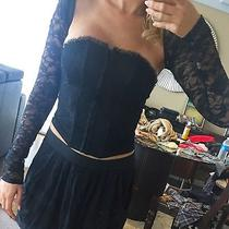 Black Forever 21 Bustier Corset Size Small Express Shrug Lace Xs Photo