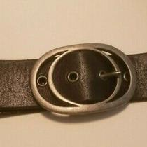 Black Fossil Belt Large Excellent Condition 43 Inches Long Photo