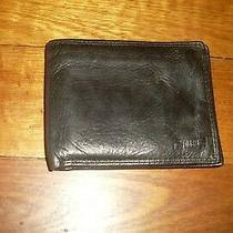Black Genuine Leather Fossil Men's Wallet Photo