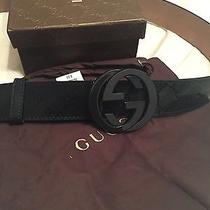 Black Gg Imprime Gucci Belt 95cm Fits Men's 32-34 Photo