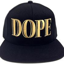 Black & Gold Dope Balmain Snapback Hat Cap Flat Bill Text Script Couture Vogue Photo