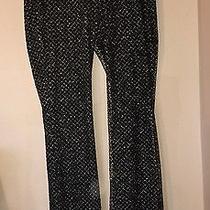 Black Gold  Embellished Wide Leg Pants Size Large Express Costume Fancy Photo