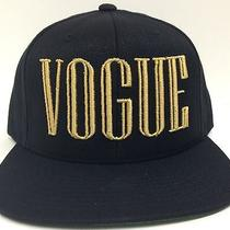 Black & Gold Vogue Balmain Snapback Hat Cap Flat Bill Black Asap Vsvp Trill Font Photo