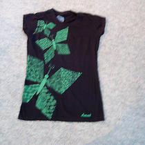 Black & Green Element Organic Tee Shirt Junior Medium Photo