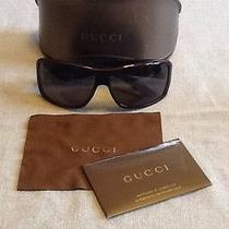 Black Gucci Sunglasses 1620/s Euc Unisex Wrap Around Photo