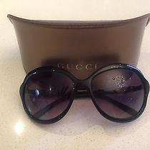 Black Gucci Sunglasses With Bamboo Inserts Photo