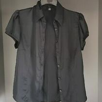 Black h&m Buttoned Blouse - Size Euro 40 Photo