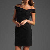 Black Halo 350 Off Shoulder Jackie O Cocktail Lbd Revolve Black Mini Dress 10/l Photo