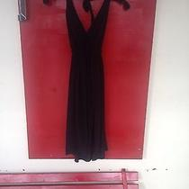 Black Halo Silk Halter Dress Black Medium Photo