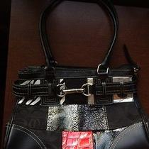 Black Handbag With Free Jonathan Adler Iphone 5 Case Excellent Condition Photo