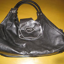 Black Hobo Flower Designer Like Purse Handbag Trendy Boho  Photo