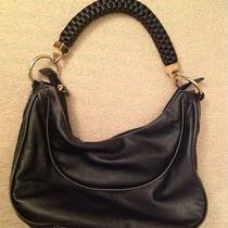 Black Hobo With Chunky Braided Strap Photo