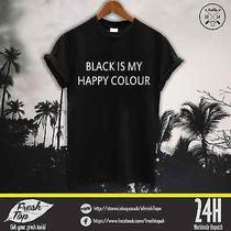 Black Is My Hapy Colour T Shirt Homies Celine Feline Glen Coco Vogue Hipster  Photo
