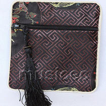 Black Jewelry Pocket Money Silk Zipper Bags Pouches T875a03 Photo