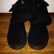 Black Knit Uggs Photo
