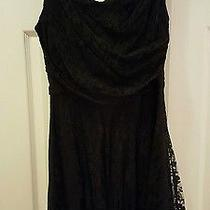 Black Lace Dress From Express - Size 12r Photo