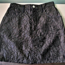 Black Lace Mini Skirt Size 29  8 Guess by Georges Marciano Pre-Owned Fast Ship Photo