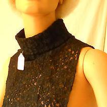Black Lace Turtleneck Dickie  Photo