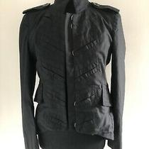 Black Ladies Military Marc Jacobs Army Style Logo Button Jacket Size Small Photo