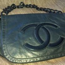 Black Leather Authentic Chanel Bag  Photo