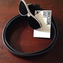 Black Leather Belt Love Moschino Photo
