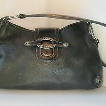 Black Leather Brighton Soft Hobo Small Purse Photo