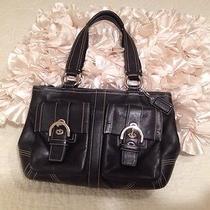 Black Leather Coach Bag Photo