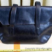 Black Leather Coach Satchel G7e-9103 Genuine Nr Used Photo
