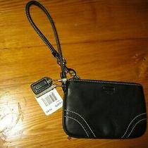 Black Leather Coach Wristlet Photo