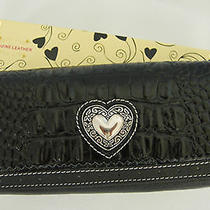 Black Leather Croc Pebble Wallet Purse Clutch Bag(n36) Photo