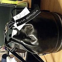 Black Leather Designer Bag Photo