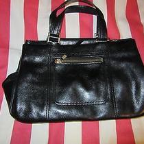 Black Leather Ellen Tracy Shoulder Bag Leather  Photo