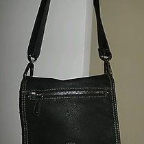 Black Leather Fossil Crossbody Photo