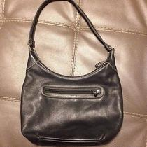Black Leather Fossil Shoulder Bag Handbag Purse Photo