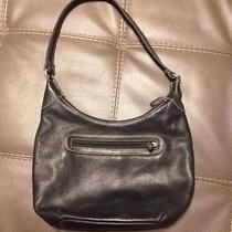 Black Leather Fossil Shoulder Bag Handbag Purse Photo